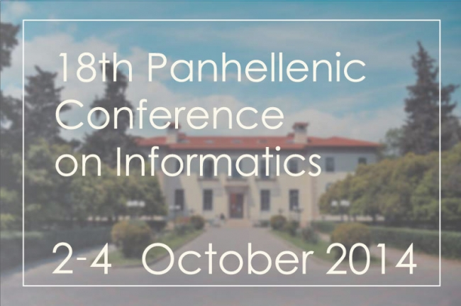 Welcome to PCI 2014 – the 18th Panhellenic Conference on Informatics