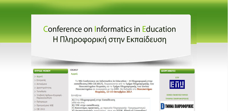 9th Conference on Informatics in Education 2017